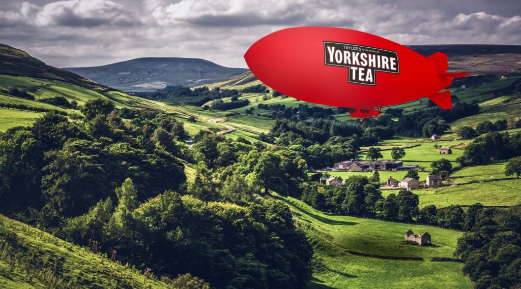 Popular tea brand Yorkshire Tea created downloadable Zoom backgrounds to promote their brand