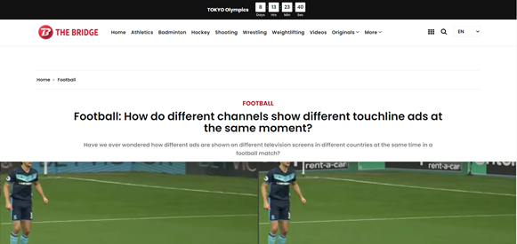 News article discussing the viral tweet about the ability to show different ads on different channels.